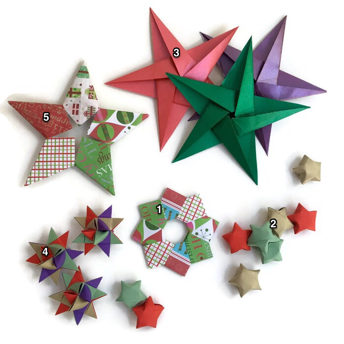 Origami Christmas Decorations Artful Maths
